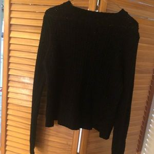 Plain black knit sweater